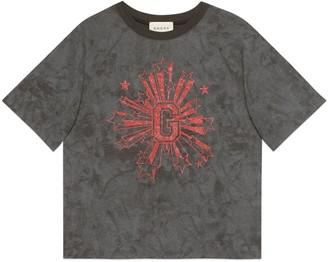 Gucci Children's G stars print T-shirt
