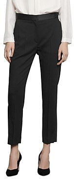 Sandro Quang Suit Pants with Satin Trim