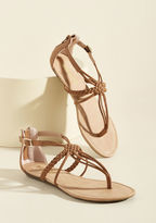 ModCloth Knotty or Nice T-Strap Sandal in Almond in 7.5