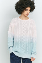 Soulland Pink And Sky Dip Dyed Jumper