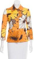 Dolce & Gabbana Lightweight Floral Printed Blazer