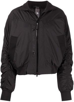 adidas by Stella McCartney Ruched Sleeves Bomber Jacket