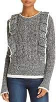 Aqua Ruffled Pointelle Sweater - 100% Exclusive