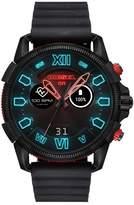 Diesel On Men's Digital Animated Black Silicone Strap Watch