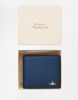Vivienne Westwood Leather Billfold Wallet - Blue