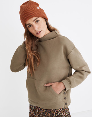 Madewell MWL Betterterry Mockneck Side-Button Sweatshirt