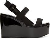 Jimmy Choo Black Nazil Wedge Sandals