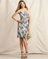 Macy's Tommy Hilfiger Dress, Sleeveless Plaid V-Neck Sheath