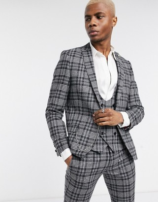 Twisted Tailor suit jacket in gray check