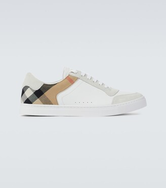 Burberry House check leather sneakers