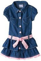 Nannette Toddler Girl Chambray Lace Dress