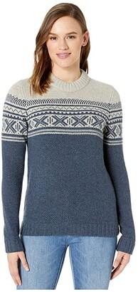 Fjallraven Ovik Scandinavian Sweater (Navy) Women's Sweater