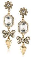 ABS by Allen Schwartz Linear Crystal Drop Earrings