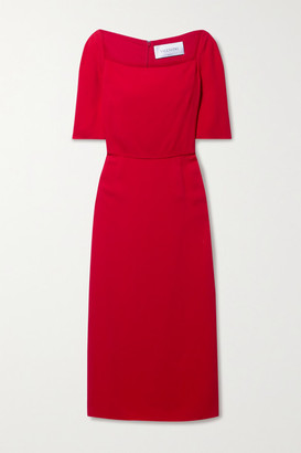 Valentino Stretch-crepe Midi Dress - Red
