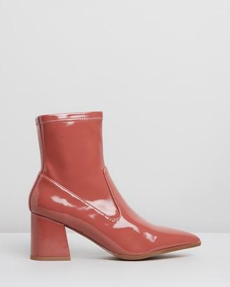 Nude Novine Patent Ankle Boots