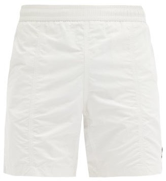 Ami De Coeur-patch Swim Shorts - Cream