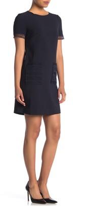 Maggy London Lace Detail Crepe Shift Dress (Petite)