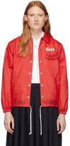 Comme des Garcons Red Logo Coaches Jacket