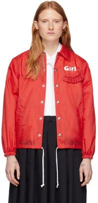 COMME DES GARÇONS GIRL Red Logo Coaches Jacket