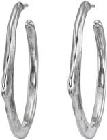 Uno de 50 Cyanide Textured C-Hoop Earrings