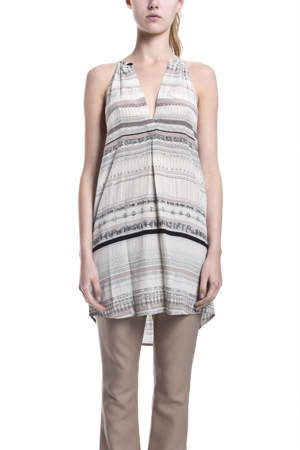 3.1 Phillip Lim Racerback Henley Dress in Parchment