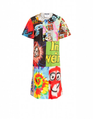 Moschino Patchwork Print Dress Woman Multicoloured Size 38 It - (4 Us)