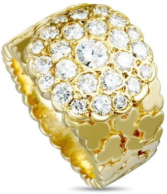 Van Cleef & Arpels Pre-Owned Yellow Gold Diamond Band Ring Size 5