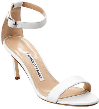 Manolo Blahnik Chaos 75 Leather Sandal