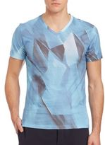 Emporio Armani Brush Stroke Cotton Tee