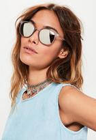 Missguided Purple Matte Club Sunglasses, Purple