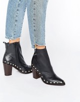 Asos ENTITY Leather Stud Ankle Boots