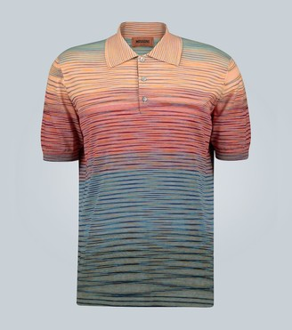 Missoni Striped knitted cotton polo shirt