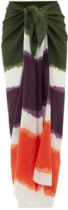 Marios Schwab On The Island By Tie-dye Cotton-blend Sarong - Womens - Multi
