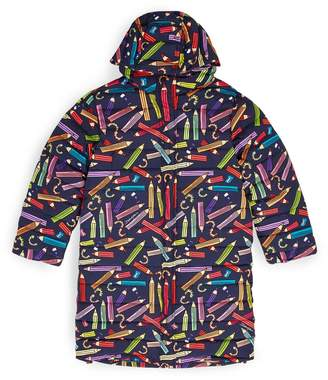 Dolce & Gabbana Pencil Print Padded Coat