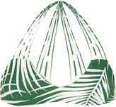 Mikoh Banyans Cutout Printed Bikini Top - Dark green