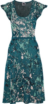M Missoni Metallic Jacquard-knit Dress