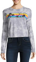 Freeze Long Sleeve Crew Neck Graphic T-Shirt-Juniors