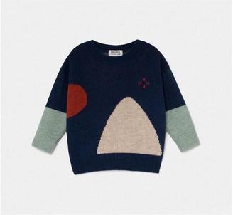 Bobo Choses Pullover Jacquard - MARINE / 10A