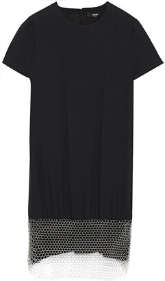 Versus By Versace Chainmail-embellished Crepe Mini Dress