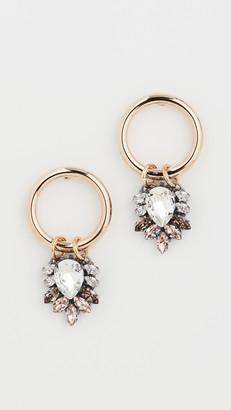 Anton Heunis Earrings with Cluster Pendant