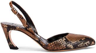 Acne Studios Bastian Viper Heel in Cognac Brown | FWRD