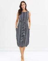 Jag Tilly Print Tie Dress
