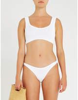 Hunza G Scoop-neck textured seersucker bikini