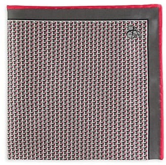 Canali Abstract 3D Cube Silk Pocket Square