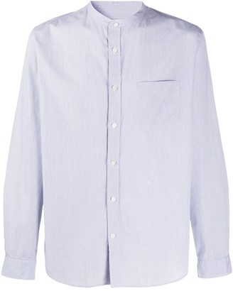 Closed Long Sleeve Patch Pocket Shirt