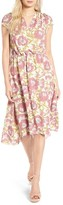 Leith Women's Foral Print Midi Dress