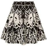 Alexander McQueen Fluted Jacquard-knit Mini Skirt