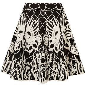 Alexander McQueen Flared Jacquard-knit Mini Skirt