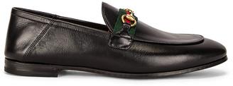 Gucci Web Brixton Loafers in Black | FWRD