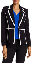 Nine West Two-Tone Notch Lapel Blazer
